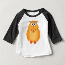 Halloween Fall Color Owl Illustration Baby T-Shirt