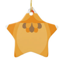 Halloween Fall Color Owl Illustration Ceramic Ornament