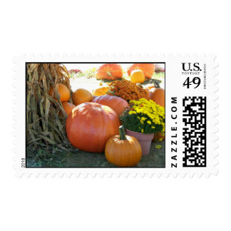 Halloween Fall Scene Postage Stamp