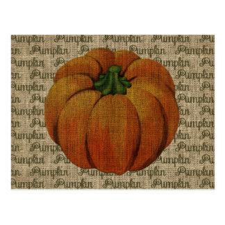 Halloween & Fall Vintage Pumpkin Postcard