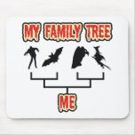 Halloween Family Tree Mouse Pads