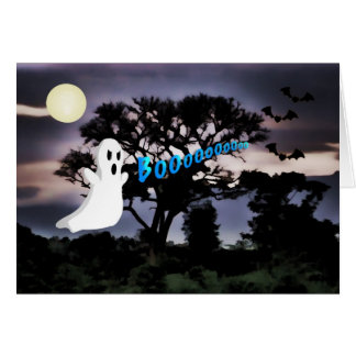 Halloween, fantasma, palos, noche asustadiza, tarj tarjeta de felicitación