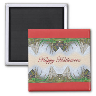 Halloween Fantasmagorical Cicada Items 2 Inch Square Magnet