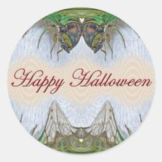 Halloween Fantasmagorical Cicada Items Classic Round Sticker