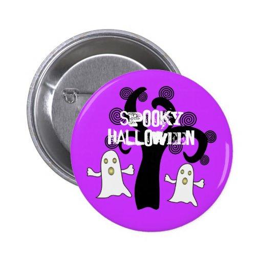 Halloween fantasmagórico - botón del Pin