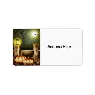 Halloween fantasmagórico etiqueta de dirección