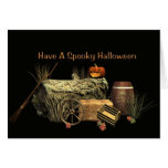 Halloween fantasmagórico felicitacion