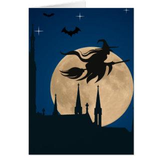 Halloween fantasmagórico tarjeta de felicitación