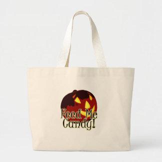 Halloween Feed Me Candy Jack O Lantern Bag