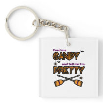 Halloween Feed Me Candy square Keychain