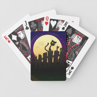 Halloween Fence Bicycle Playing Cards
