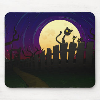 Halloween Fence Mouse Pad