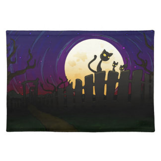 Halloween Fence Placemats