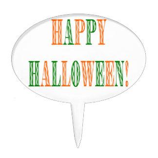 Halloween Festival Text Cake Topper
