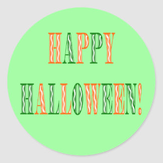 Halloween Festival Text Classic Round Sticker