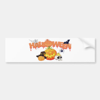Halloween Festive Design Bumper Sticker