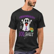Halloween Fibromyalgia is Boo Sheet Purple Boos Gh T-Shirt