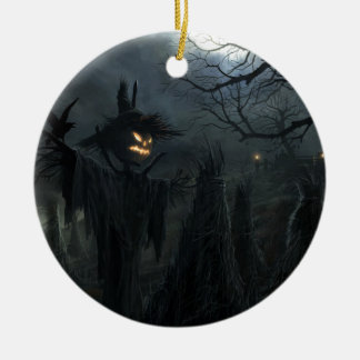 Halloween Field of Death Double-Sided Ceramic Round Christmas Ornament