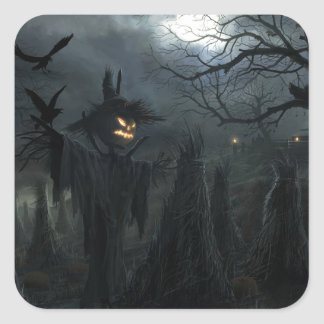 Halloween Field of Death Square Sticker