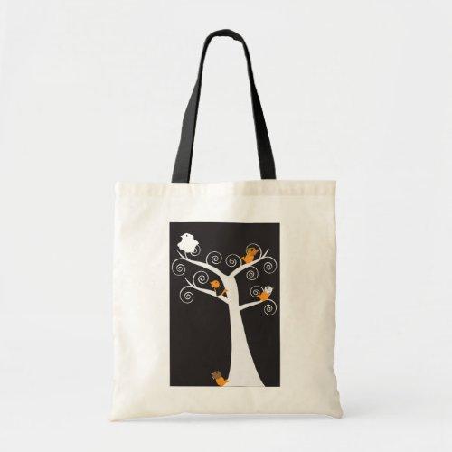Halloween Five Birds Bag