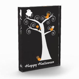Halloween Five Birds Customizable Acrylic Award