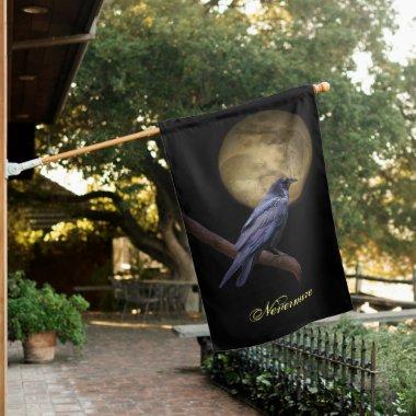 Halloween Flag Decorations Raven Edgar Allan Poe