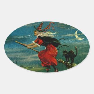 Halloween Flight Oval Sticker