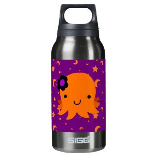 Halloween Flower Octopus Insulated Water Bottle