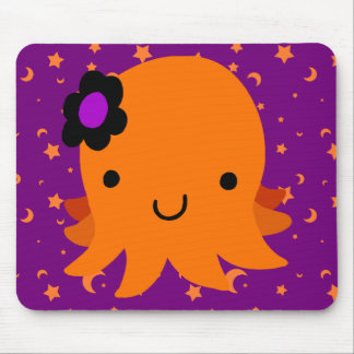 Halloween Flower Octopus Mouse Pad
