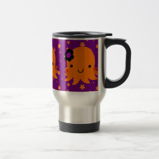 Halloween Flower Octopus Travel Mug