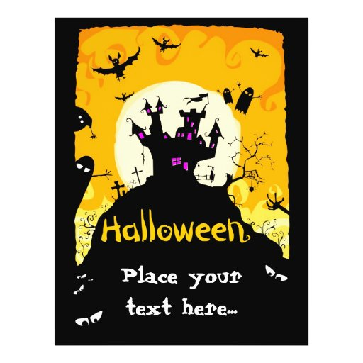 Halloween flyer design zazzle for Halloween flyer ideas