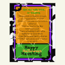 Halloween Flyer with Trick or Treat safety tips