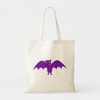 Halloween Flying Bat in Phantom Purple Budget Tote Bag