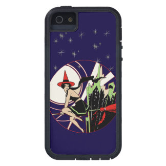 Halloween Flying Witch art nouveau vintage iPhone 5 Cover