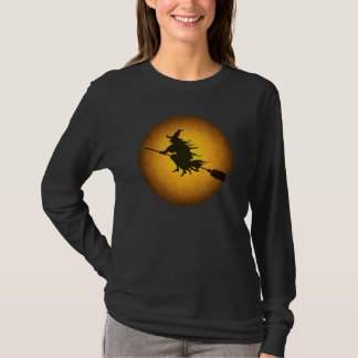 Halloween Flying Witch T-Shirt