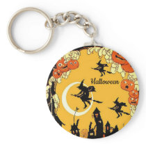 Halloween Flying Witch Template Keychain Swag