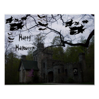 HALLOWEEN FLYING WITHCES poster