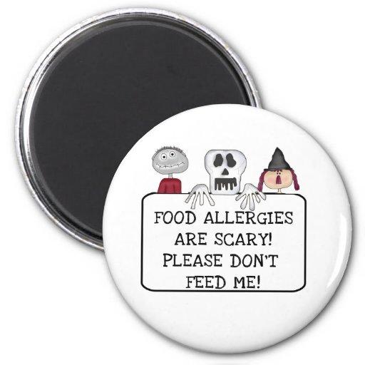 Halloween Food Allergies Fridge Magnet