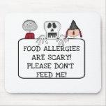 Halloween Food Allergies Mouse Pad
