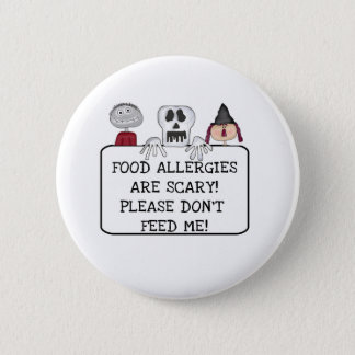 Halloween Food Allergies Pinback Button