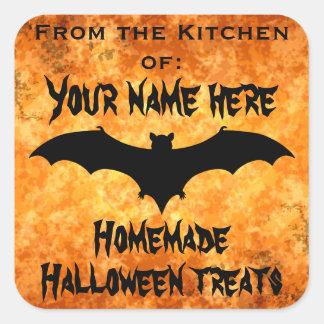 Halloween food label