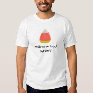 Halloween food pyramid (candy corn) white T T-Shirt