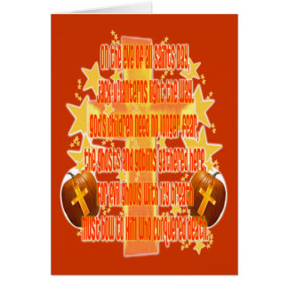 Halloween for Christians (Poem) Greeting Card