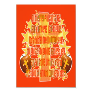 Halloween for Christians (Poem) 5x7 Paper Invitation Card
