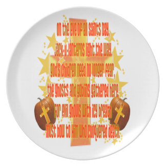 Halloween for Christians (Poem) Party Plate