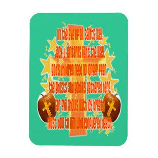Halloween for Christians (Poem) Rectangle Magnet