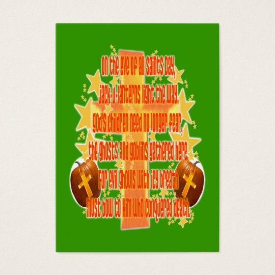 Halloween for Christians (Poem) Tract Card /