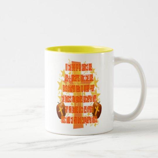 Halloween for Christians (Poem) Two-Tone Coffee Mug
