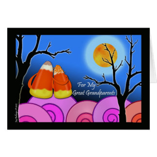Halloween for Great Grandparents, Candy Corn Pair Card