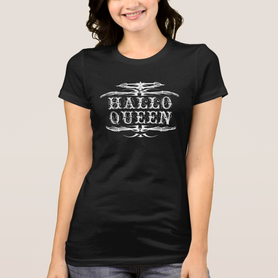 Halloween For Ladies Hallowqueen Queen Of T-Shirt - Best Selling Long-Sleeve Street Fashion Shirt Designs